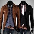 2017 Top Segundos Fasion Matar Outerwear Turn-down Colarinho de Lã Masculina Outono E Inverno Business Casual Fino Casaco de Lã casaco
