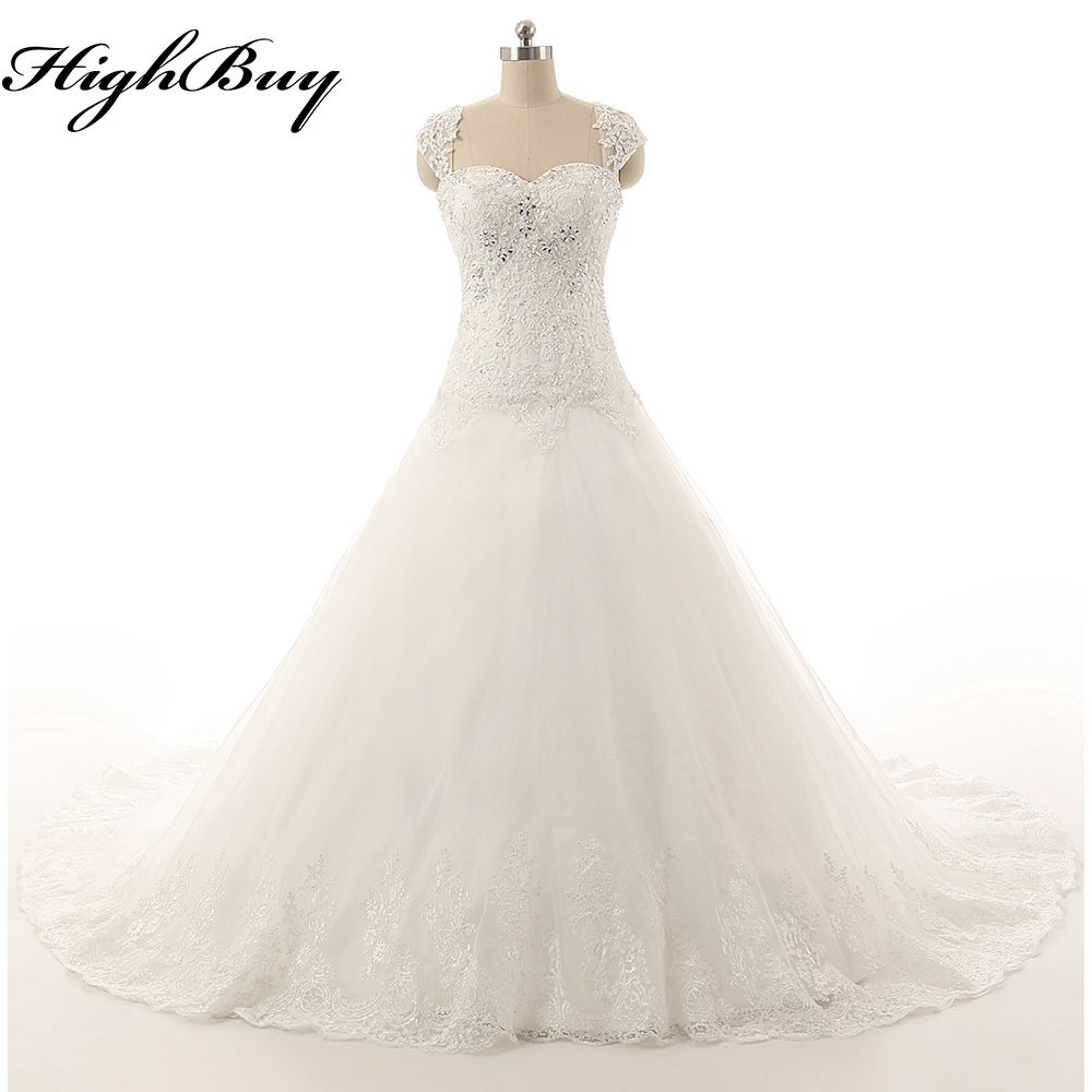 Buy highbuy new white ivory wedding dress for White or ivory wedding dress