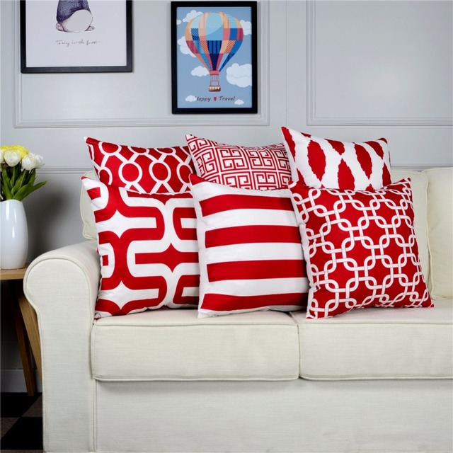 Topfinel Geometric Decorative Throw Pillow Cases Cushion Covers For ...