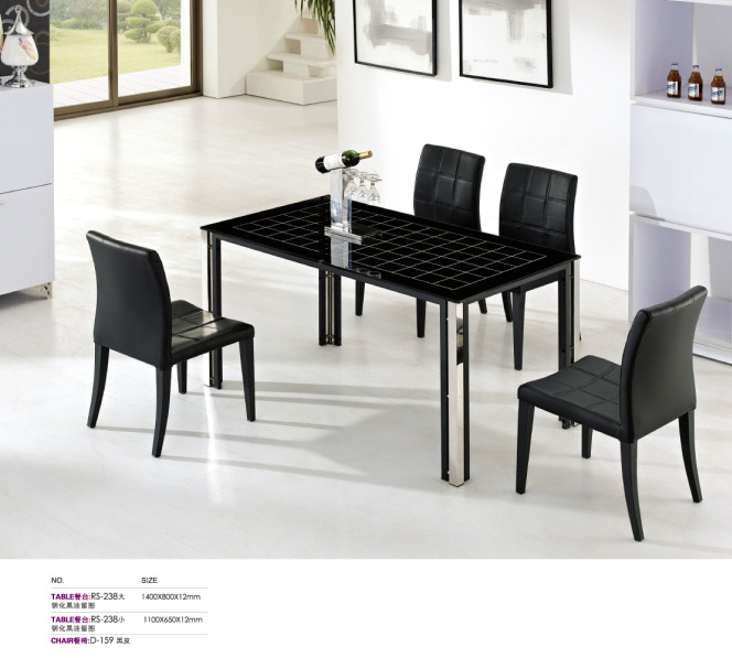 stainless steel kitchen table modern window treatments new design dining set in tables from