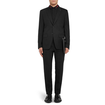 Actual Pictures Gentleman Style Two Pieces Suits Closure Collar Two Buttons Three Pockets Evening Party Suits(jacket+pants)