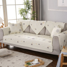 Cotton washed quilted embroidered sofa cushion, double-sided fabric high-grade European minimalist cushion
