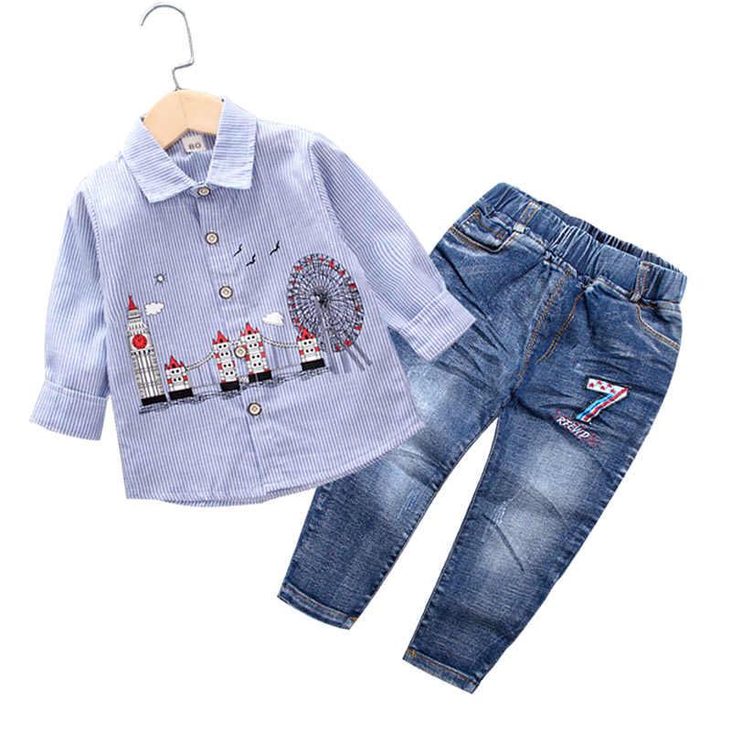 1e8855eb4 Niño conjunto de ropa de Otoño de 2019 ropa de niños de algodón de manga  larga