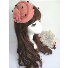 Lady Girls Rose Flower Hat Lace Fascinator Hair Clip Fashion Gift Lady Net Pillbox Hat Hair