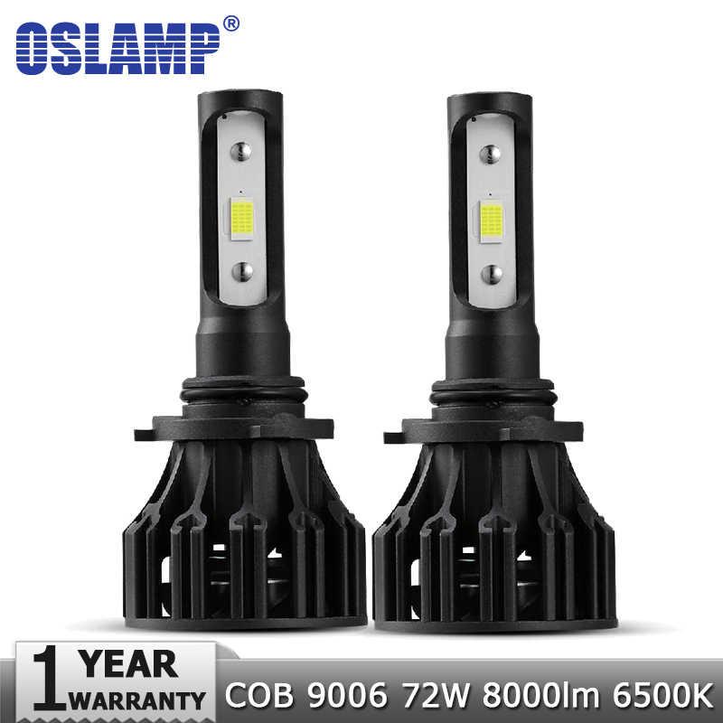 Oslamp 9006 HB4 LED Car Headlight Bulbs COB 72W 8000lm 6500K Auto Headlamp Led Light Bulb 12v for Toyota VW Honda Mazda Hyundai