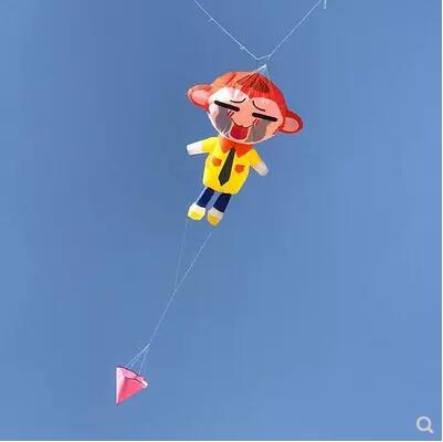 Livraison gratuite singe doux cerf-volant pendentif tissu jouets d'extérieur animal cerf-volant roue ripstop nylon cerf-volant volant pieuvre doux cerf-volant tissu