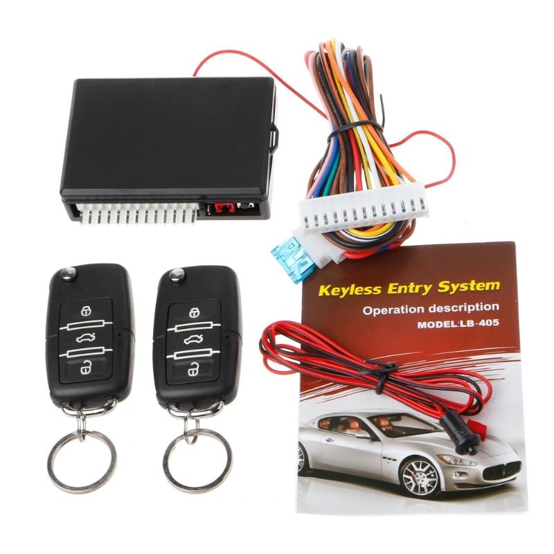 QILEJVS Universal Car Remote Control Central Kit Door Lock Locking Keyless Entry System Car Alarm Security