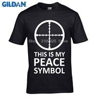 GILDAN Customised T Shirts Men Funny T Shirts CS GO Letters Design PU Printed 100 180g
