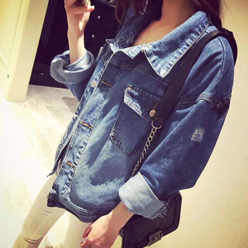Women Jean Jacket Hot Sale Casual Popular Autumn Regular Coat Korea Girls Loose Outwear Simple Fashion Women\'s Clothing Cheap (9)