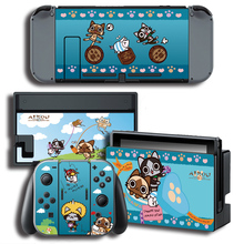 Vinyl Screen Skin Sticker for Airou Skins Protector Stickers for Nintendo Switch NS Console + Controller + Stand Sticker