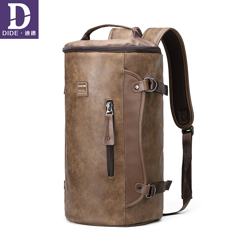 DIDE Unisex Backpacks Personalized cylindrical backpack men bagpack Laptop Mochila shoulder bags School Bag Men