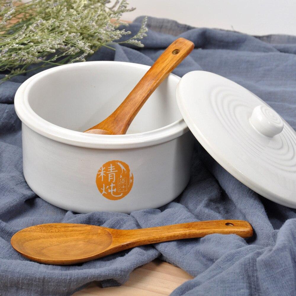 Houten Lepel Vork Bamboe Keuken Kookgerei Gereedschap Soep-Theelepel Servies Draagbare Servies vork voor keuken bar