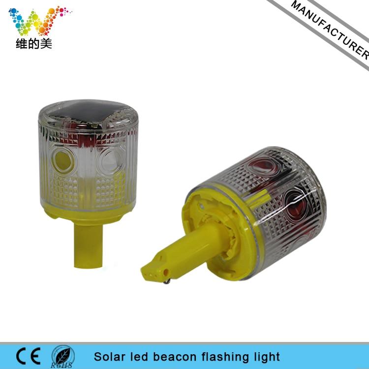 WDM ILED Solar Powered Easy Installment Warning Flashing Beacon Strobe  Light White