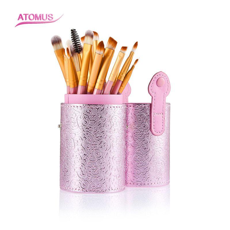 20pcs/Set Professional Makeup Brush Foundation Eye Shadows Lipsticks Powder Make Up Brushes Tools With Pink Tube Box туника белая с рисунком byblos ут 00003790