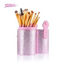 20pcs/Set Professional Makeup Brush Foundation Eye Shadows Lipsticks Powder Make Up Brushes Tools With Pink Tube Box