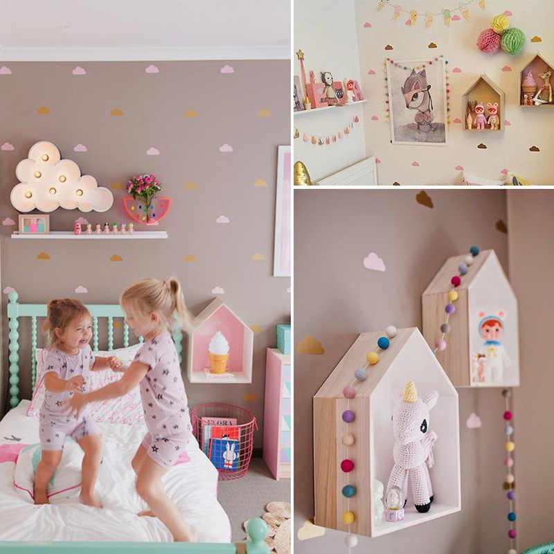 ענן קיר מדבקות לילדים חדר תינוקת חדר קיר מדבקות מדבקות ילדים שינה משתלת חדר קיר מדבקת ילדי בית דקור