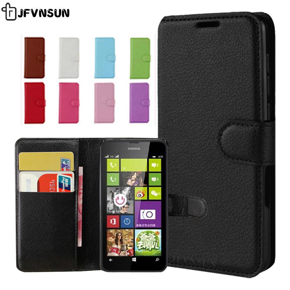 size 40 f2c7b 2db8c For Nokia Lumia 630 Case on Lumia 630 635 Case Flip 4.5 inch Wallet Leather  Book Case for Nokia Lumia 630 635 Cover Phone Bag