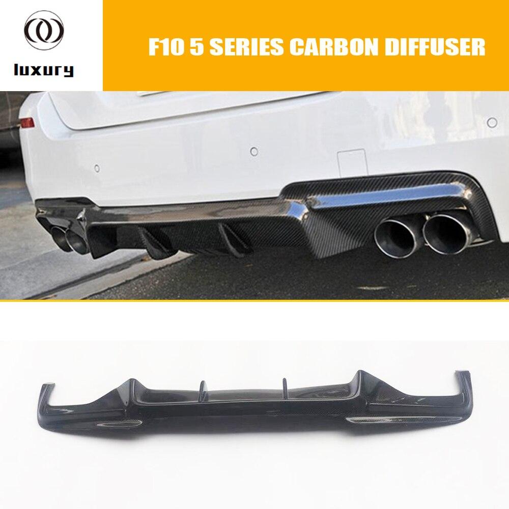 F10 V Style Fiber De Carbone Pare-chocs Arrière Diffuseur pour BMW F10 520i 528i 530i 535i 520d 525d 530d 535d M -tech Pare-chocs