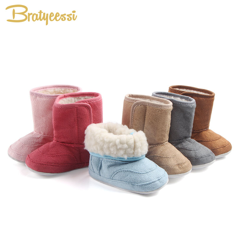 6 Colors Plush Lining Baby Boots Winter Warm Kids Snow Boots Soft Anti Slip Baby Shoes for Boys Girls цена