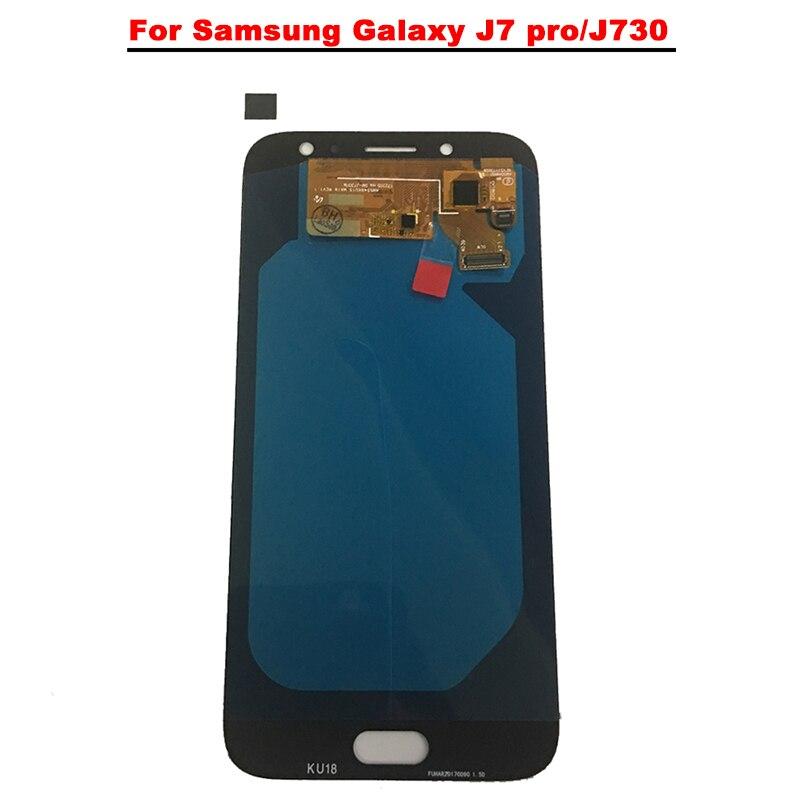 Nouveau Super AMOLED LCD J7 Pro 2017 J730 J730F affichage 100% testé assemblage d'écran tactile de travail pour Samsung Galaxy J730 lcd