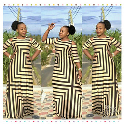 2017 afrikanische Kleidung Dashiki Neue Traditionellen Fashion Tau Schulter Design Bazin Super Elastische Plus Lose Für Dame (LJ02 #)