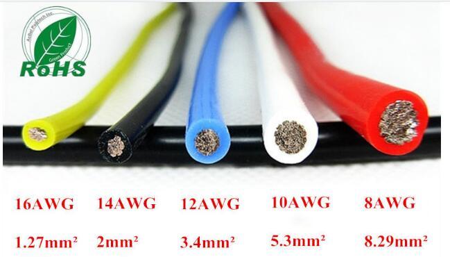 10AWG Flexible Silikon Draht RC Kabel 10AWG 1050/0. 08TS ...