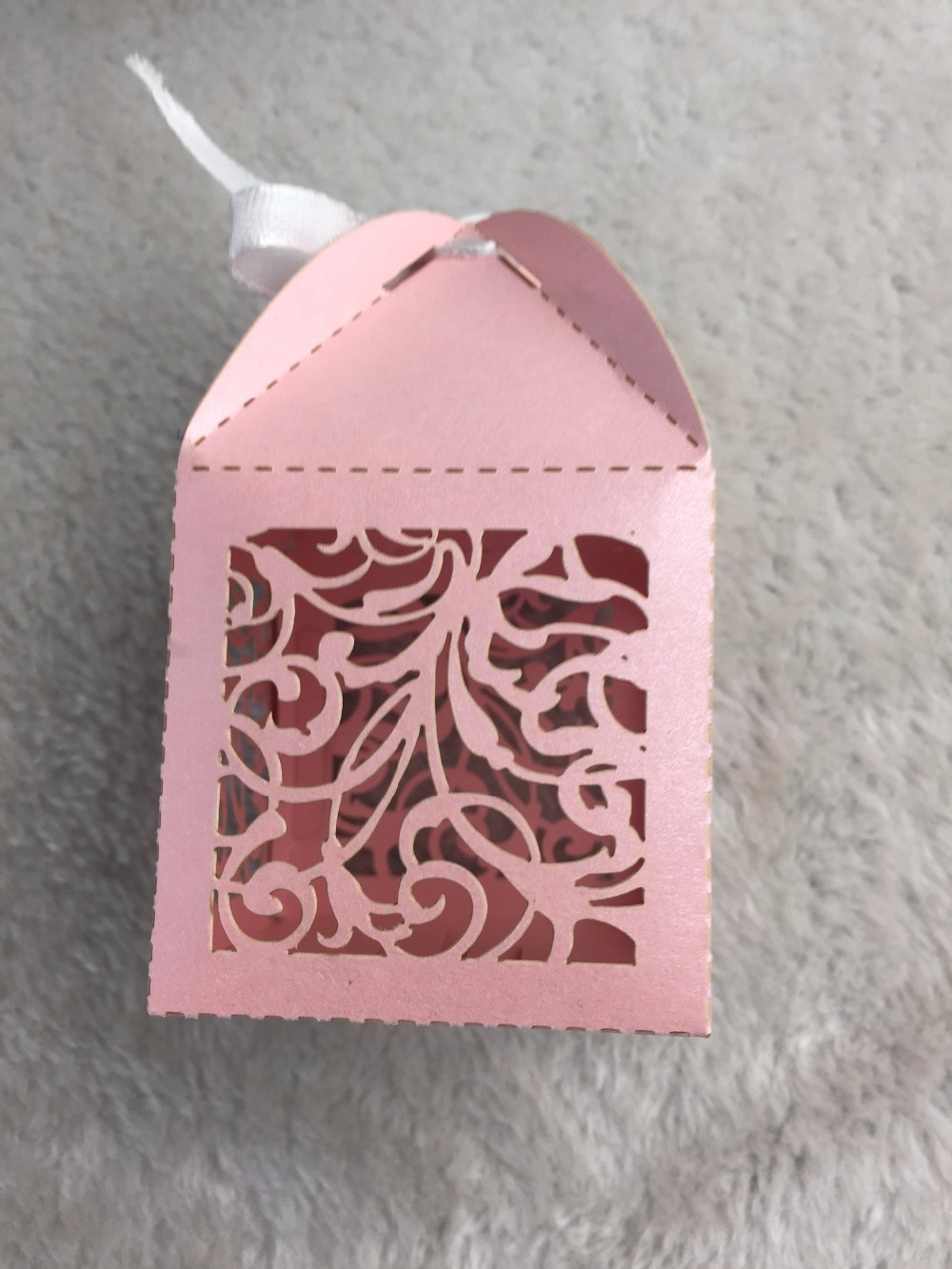 100pieces pink color wedding decoration gift packaging boxes for ...