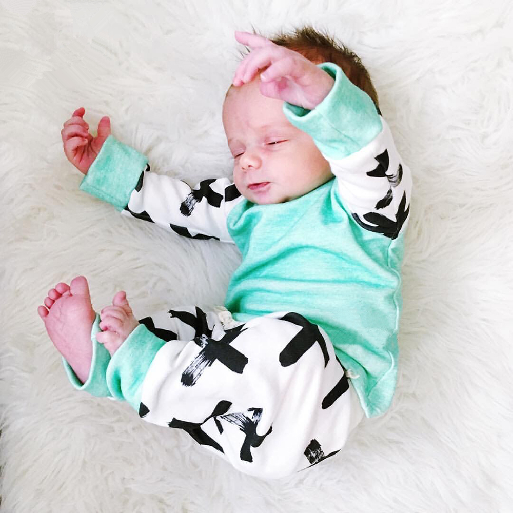 Autumn Fashion Baby Boy Clothing Set Cotton Long