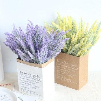 Flores de lavanda artificiales, decoración de jardín, Otoño, boda, flores de lavanda falsas, flor de Año Nuevo Chino