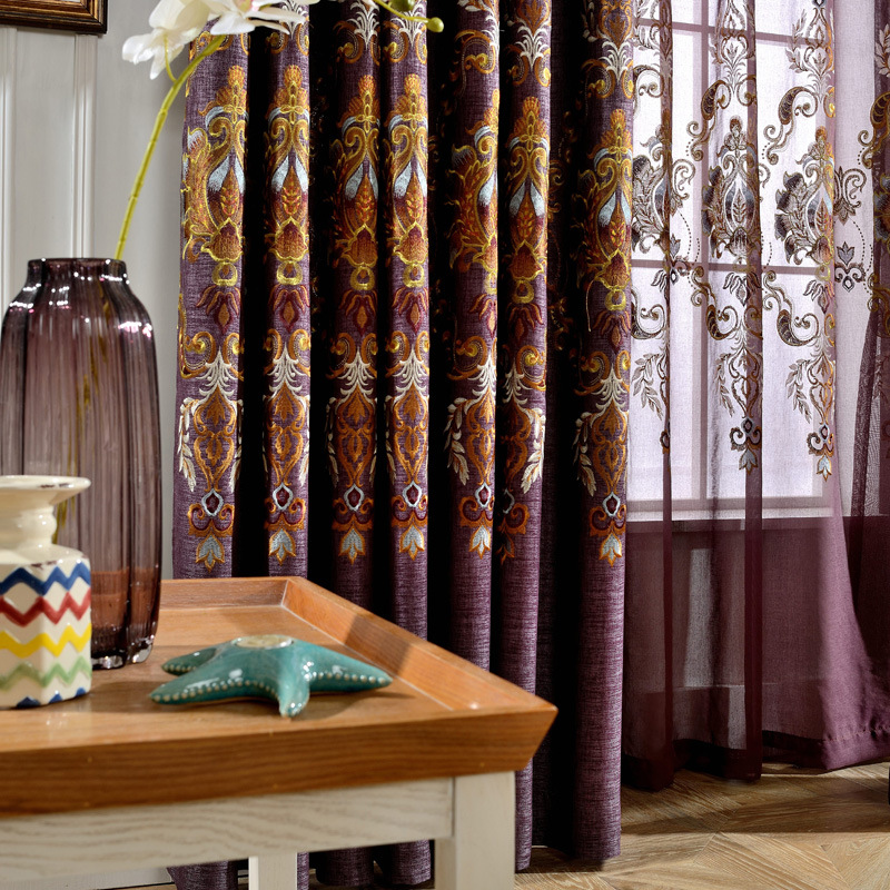 nuevas cortinas para el dormitorio sala de estar comedor moderno simple sombreado tela bordada