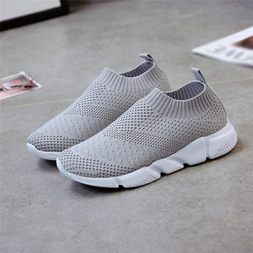 2018 New Outdoors adults trainers Running Shoes woman sock footwear sport athletic unisex breathable Mesh female Sneakers #2a (26)