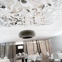 Fashion Creative European Luxury Mirrors Backdrop Stickers For Ceiling Stores Restaurants Lounge Best Soft Furnishing R218