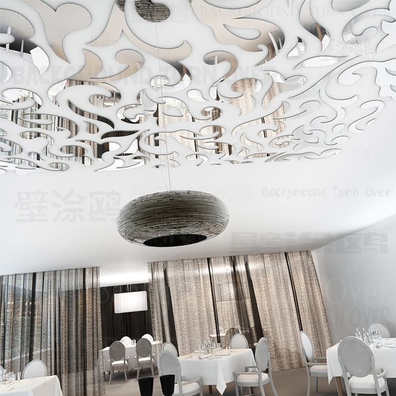 Creative European Style Acrylic Waist Line Ceiling Stickers Vintage Wall Sticker Home Decor For