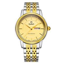 Человек Часы Золотые Часы Мужчины Эксклюзивная Модная Мужские Кварцевые Часы Авто Дата Полный Календарь Мужские Часы Из Нержавеющей Стали Эркек Кол