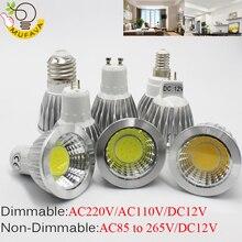 Самая низкая цена 1 упак./лот cob светодиодный GU5.3 лампада светодиодный лампы E27 9 Вт 12 Вт 15 Вт mr16 12v Светодиодный прожектор GU10 Luz ампулы gu10 светодиодный светильник