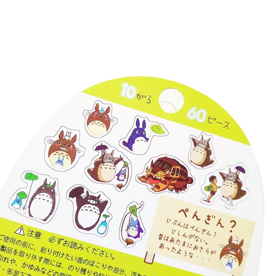 Купить с кэшбэком 60pcs/lot Cute Cartoon Sticker Decoration For DIY Diary Phone Car Computer Bicycle Notebook Case Waterproof Kids Toy Stickers
