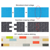 10pcs 3D DIY XPE Personality Brick Wall Sticker Convenient Self adhesive Wallpaper Sticker Decoration Waterproof wall sticker