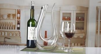 1PC 1500ml crystal red wine decanter wedding wine decanter red wine glass wine dispenser U shaped
