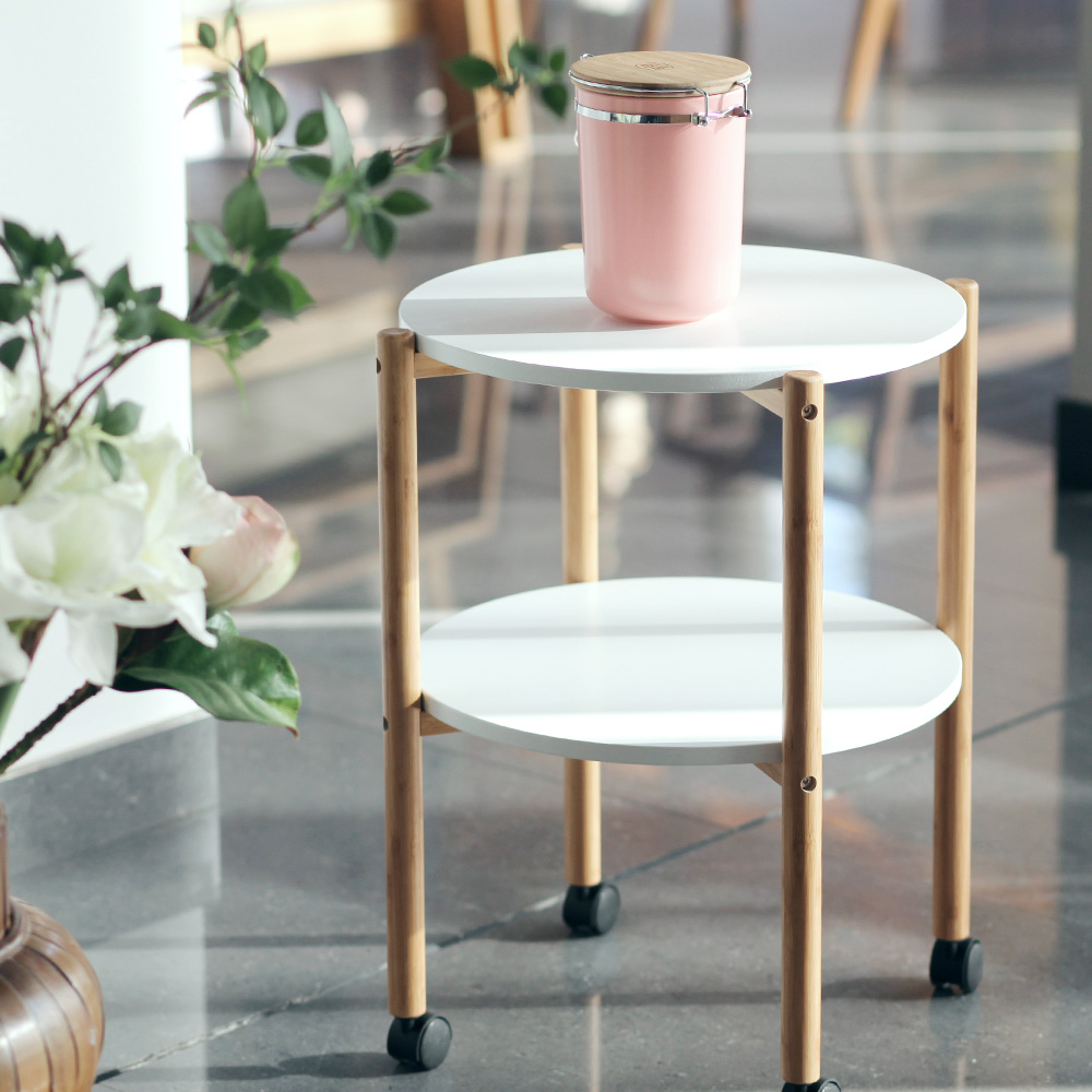 Aliexpress.com : Buy ZENu0027S BAMBOO Tea Table Double Layer Movable Coffee  Table With Castor Bamboo Table Living Room/bedroom Furniture From Reliable  Coffee ... Part 18