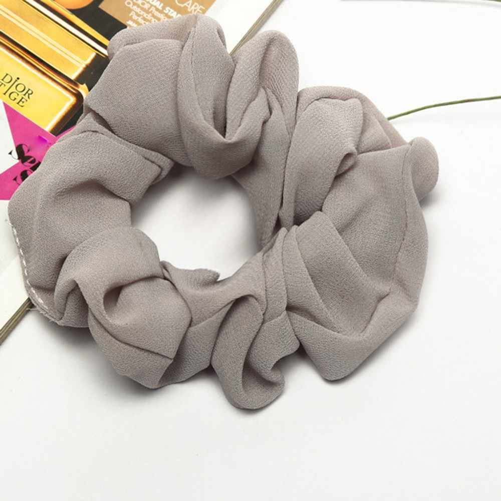 Three color Trendy Lady Hair Scrunchie Ring Elastic Pure Color Bobble Sports Dance Scrunchie Accesorios Para El Cabello  #0
