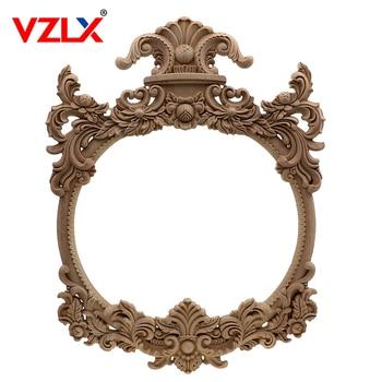 VZLX, calcomanía de esquina de tallado de madera, marco de aplicación de madera, puerta de pared, calcomanía de tallado en madera, marco de fotos, figuritas, mobiliario decoración hogar
