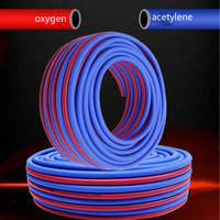inner diameter 8MM Gas Welding Equipment welding machine pipe special welding hose gas cutter hose total red+blue free shipping