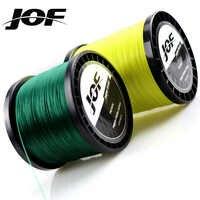 JOF 9 hilos 300M 500M 1000M de hilo de pescar de PE trenzado Japón multicolor tejido para pesca en agua salada Superior extremadamente súper fuerte
