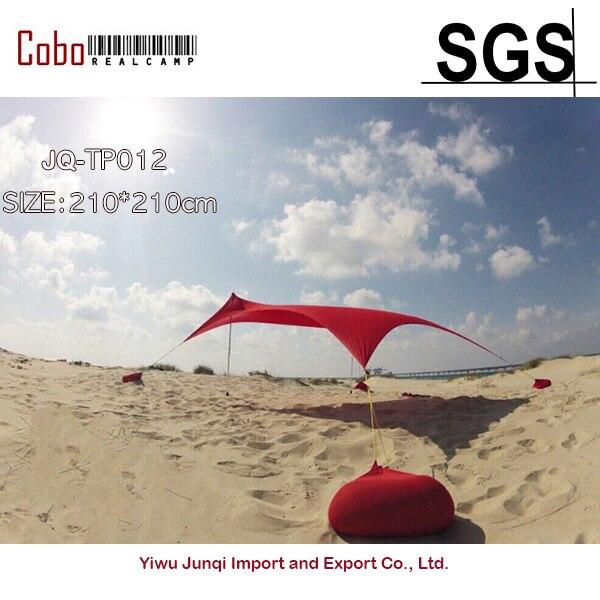 HOT Sea Beach CampingTent bâche parasol gonflable abri auvent sable ancre sac de transport auvent pluie protéger Portable 2 pôles