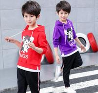 New boys autumn 2018 new children's wear, one set out for two sets of pure cotton Korean boy suit kid children clothing