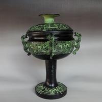 Dleisea Бесплатная доставка Китайский античная бронза имитация четыре Тигр dou Carven дракон Маскоты украшения дома Семья ремесла