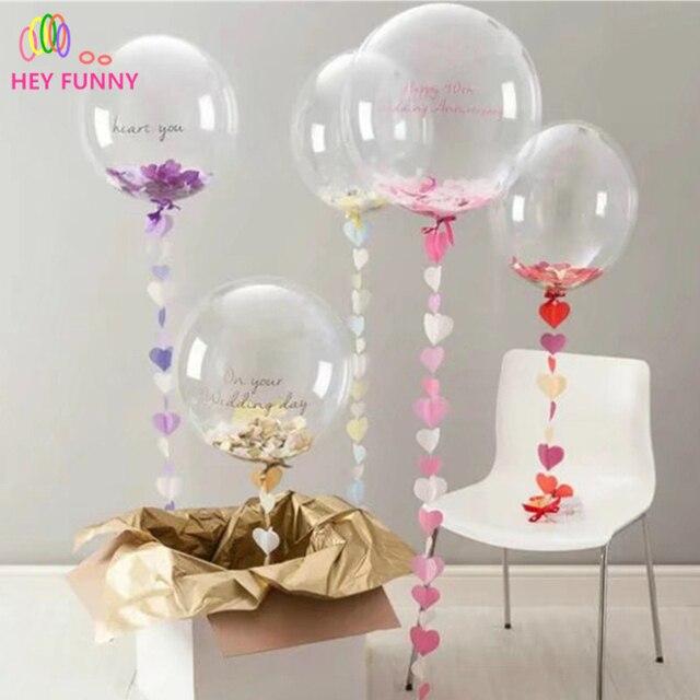 2 Stukpartij Transparante Ballonnen 1 Grote Ronde Ballon 24 Inch