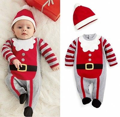 Christmas Newborn Baby Girl And Boy Winter Bodysuit (Hat or Headband Included)
