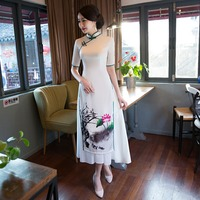 Shanghai Story Vietnam aodai Chinese traditional Clothing China dress qipao long Chinese cheongsam dress modern cheongsam