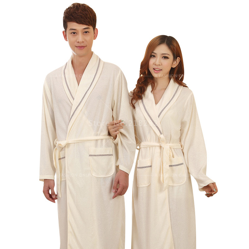 Females robe summer bathrobes 100% cotton short sleeve solid medium long  design plus size sleep lounge spa home wear for women 01defd634
